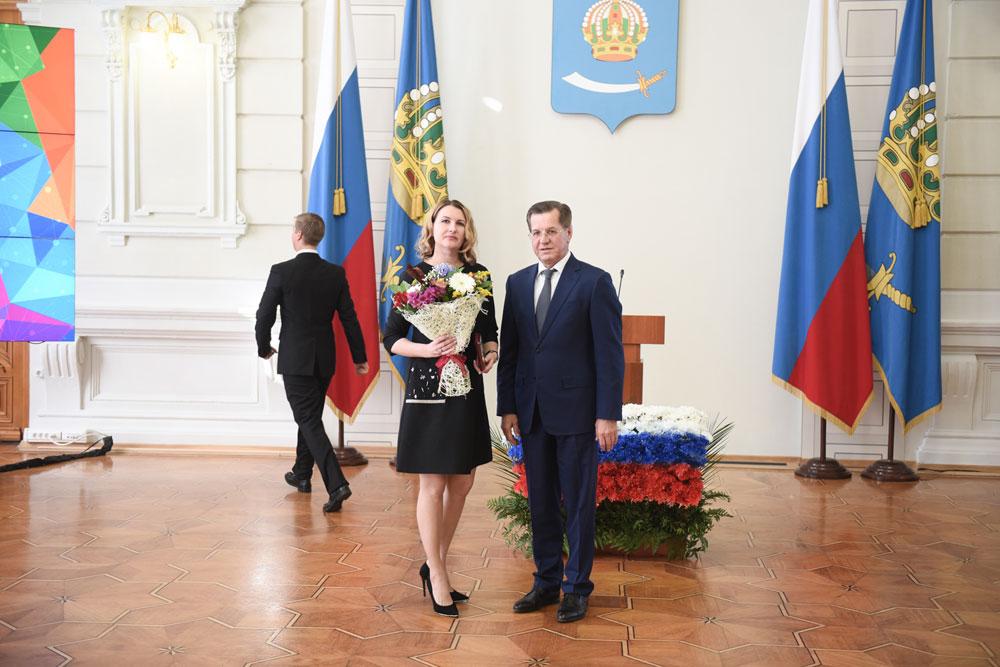 Максимова Оксана Васильевна награждена Почетным знаком за заслуги перед Астраханской областью!
